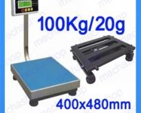 เครื่องชั่งดิจิตอล แบบตั้งพื้น 100kg ความละเอียด20g แท่นขนาด400x480mm