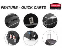 Rubbermaid : Executive Quick Carts  กระเป๋าทำความสะอาดล้อเลื่อน