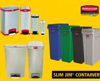 Rubbermaid : Slim Jim™ Container Series  ถังอเนกประสงค์ทรงสูงประหยัดพื้นที่