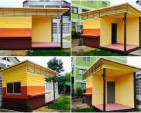 บ้านน็อคดาวน์สำเร็จรูป บ้านเคลื่อนที่ รับสร้างซุ้มกาแฟ ร้านค้าสำเร็จรูป ตู้