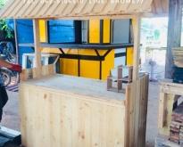 ขายซุ้มเคาน์เตอร์ไม้ ออฟชั่นร้านกาแฟ ซุ้มไม้ไผ่ บ้านไม้ไผ่ราคาถูก