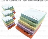 รับผลิต กระดาษโพสอิท พิมพ์โลโก้ โพสอิทพร้อมสกรีนโลโก้ สมุดโพสอิทไดคัท ตามแบ