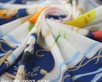 รับพิมพ์ผ้า ผลิตผ้าพันคอ ผ้าพันคอพิมพ์ลาย ไม่มีขั้นต่ำ เนื้อผ้ากว่า 10 ชนิด