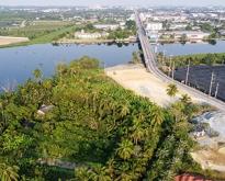 ที่ดิน 3ไร่ 79 6/10ตารางวา(1,279.6ตารางวา) ติดแม่น้ำท่าจีน เชิงสะพานท่าจีน2