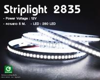 strip light 2835 IP20 ไม่กันน้ำ 240 led/เมตร 1ม้วน ยาว 5เมตร มี3 สีให้เลือก