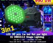 3in1 led 36pcs 1w led flat par light DJ DMX512 Stage Lighting